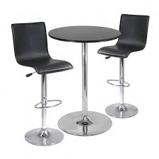 cozy modern bar table sets design ideas chrome modern bar table with black stained wooden