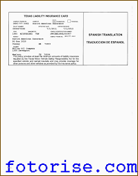 Car Insurance Quotes Texas Adorable Car Insurance Quotes Texas New Texas Auto Insurance Card Template