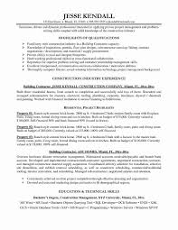 Contractor Resume Template Best Of General Contractor Resume New Independent Contractor Resume