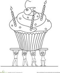Small Picture Color the Happy Birthday Cake Happy birthday cakes Worksheets