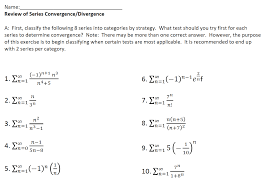 Series Convergence Divergence Flow Chart Mixed Review Determining Series Convergence Divergence