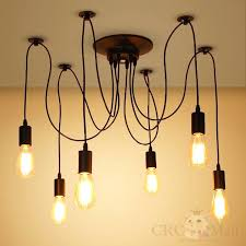 edison light chandelier 6 heads vintage industrial ceiling lamp light chandelier edison light chandelier pottery barn