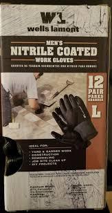wells lamont nitrile coated work gloves 12 pairs large new 691195644782