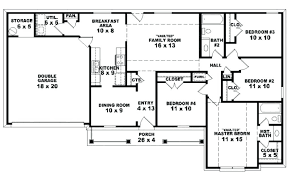 amazing 2 bedroom 2 bath single story house plans or house plan 5 bedroom one story