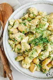 herby no mayo potato salad recipe