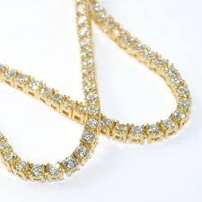 lab diamond chains made small stone gold tennis chain vvs