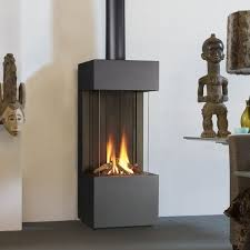 Ventless Gas Fireplace Free Standing Modern