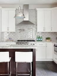 Interesting Kitchen Backsplash Glass Tile White Cabinets Best Design Ideas For Beautiful