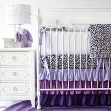 bedroom charming purple white and leopard girl bedding set with white bedside table baby