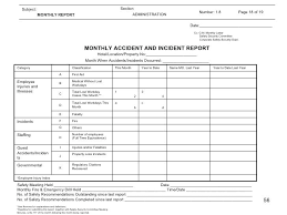 Restaurant Guest Incident Report Form Environmental Example