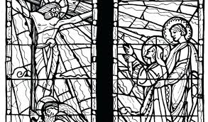 Stained Glass Cross Coloring Page Download By Tablet Desktop