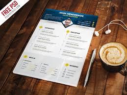 Professional Designer Resume Cv Template Psd | Psdfreebies.com