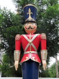 Stylish Large Toy Soldier Christmas Decoration Exquisite Astounding Statue  Toys Wooden