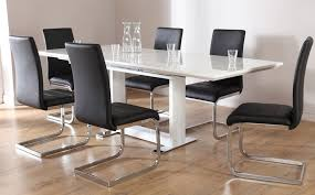 great extending dining table and 6 chairs tokyo white high gloss extending dining table and 6 chairs set
