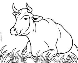 Try to color animals to unexpected colors! Free Printable Cow Coloring Pages For Kids