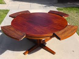 modern outdoor dining furniture. Expandable Round Modern Outdoor Dining Table For Patio With Wooden Legs Ideas Furniture