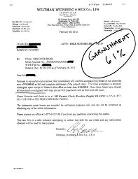 judgment garnishment debt settlement letter 61 percent Discover 001 001