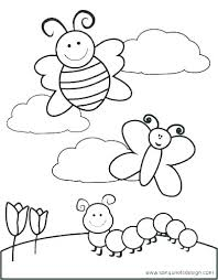 Pleasant Spring Coloring Pages For Preschoolers Preschool In Snazzy