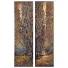 on set of three framed wall art with tree panels canvas wall art set of 2