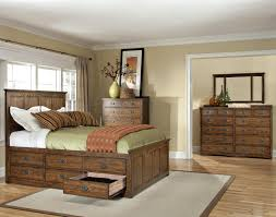 Drawers For Under Bed Intercon Oak Park Mission Queen Bed With Twelve Underbed Storage