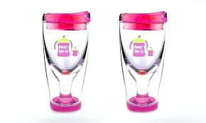 fun wine glass to go travel ice vino 2 cup cups pack glasses holder diy shark tank