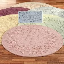 hot pink round area rug vintage medallion elmer blush 5 ft 3 in x unique round
