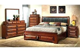 brown leather headboard king size sleigh bed with best bedroom sets black