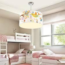 kids bedroom lighting. Chic Kids Bedroom Ceiling Lights Drum Shaped Bird Pattern Lighting