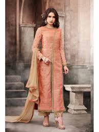 Front Open Salwar Designs Pink Color New Design Front Open Party Wear Salwar Kameez