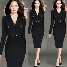 professional clothing 2017 new winter fashion career women dress in europe and america hot