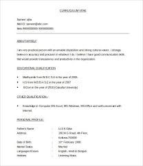 Resume Sample Doc