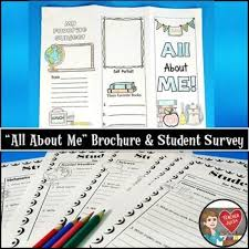 Printable Surveys Simple Back To School Student Survey And Brochure Student Survey