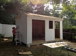 painting and priming the shed diy shed tutorial