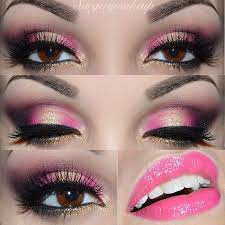 i love this pretty pink and gold eyeshadow look