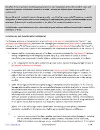 sponsorship agreement sponsorship contract template for artists