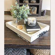 14x20 wooden decorative tray with metal