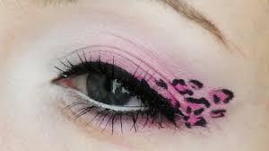 pink leopard print makeup tutorial