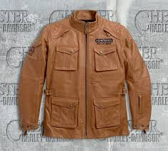 harley davidson men s wheeler waterproof 3 4 leather jacket 97185 18em