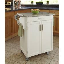 Granite Top Kitchen Cart Cuisine Cart White Finish Sp Granite Top Homestyles
