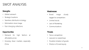 zara store design 4 4 swot analysis