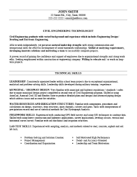 Civil Engineering Technologist Resume Template Premium Resume
