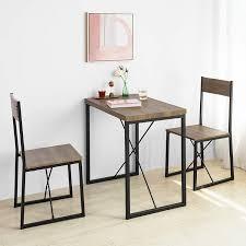 Sobuy Ogt19 N 3 Teilig Essgruppe Esstisch Mit 2 Stühlen Sitzgruppe Küche Küchentisch Holztisch