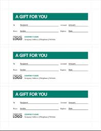 Gift Certificate Template With Logo Gift Certificates