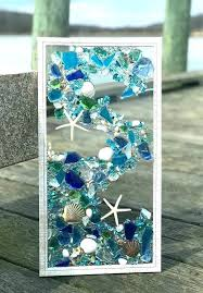beach glass art sea artwork on jewellery camper vans mosaics framed fused crafts