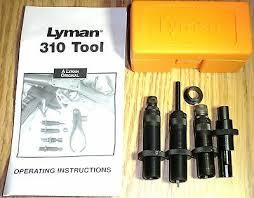 Lyman 310 Tool Die Chart Reloading Equipment Lyman 310