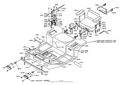 dixon ztr 428 1988 parts diagram for wiring assembly body assembly