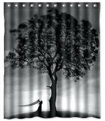 black n white shower curtains black n white shower curtains with best black tree shower curtain