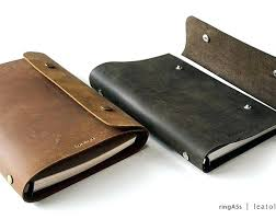a5 leather binder 3 ring notebook rings craft faux