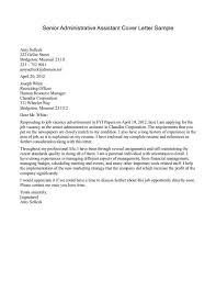 Student Cover Letter For Resume Custom Administrative Sample Job