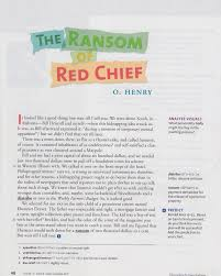 The Ransom Of Red Chief Plot Chart The Ransom Of Red Chief Mrs Nelsons Homework Pages
